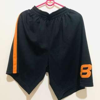 Celana Basket black orange