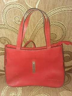 Handbag kulit merah Roberto Italy