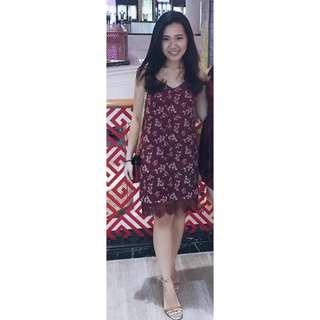 HnM Floral Red Dress