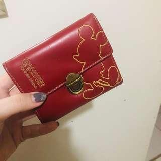 Dompet merah mickey mouse