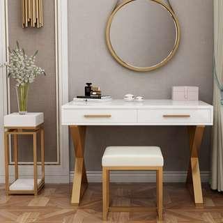 Modern Stainless steel frame Dressing Table
