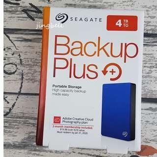 [Sale]Seagate 4TB Backup Plus Portable Drive USB3.0 (Blue)