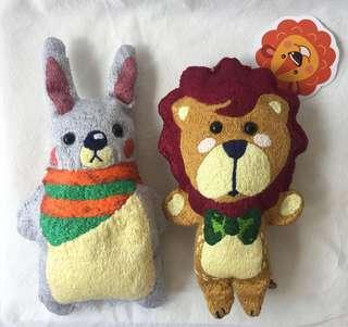 🚚 Baby's Bean Sprouts Husk Pillow - Gentle Lion 🦁 and Foodie Rabbit