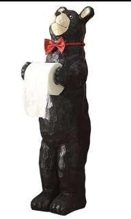 Bear toilet roll holder