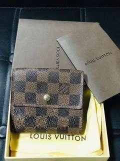 Authentic LV Louis Vuitton Elise NM Damier Wallet
