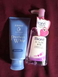 Biore Make Up Remover Cleansing Oil Senka Perfect Whip