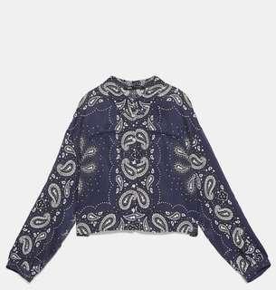 Paisley Printed Cropped Shirt