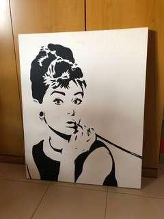 Canvas printing- Audrey hepburn