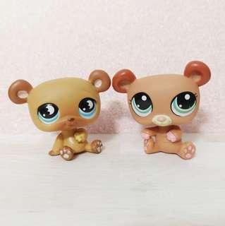 🚚 (Left sold) Littlest Pet Shop lps brown bear set
