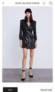 ZARA Black Blazer Dress