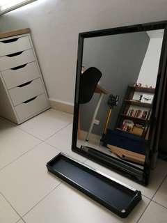 Brand new bathroom mirror and rack
