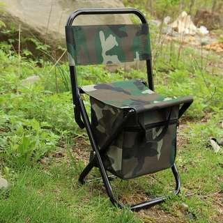 🐟 FOLDABLE OUTDOOR FISHING CAMPING CHAIR WITH STORAGE BAG
