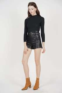 Chic leather shorts
