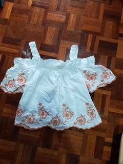 Zalora white embroidery top