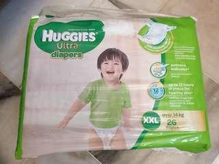 Huggies Ultra Diapers XXL Tape