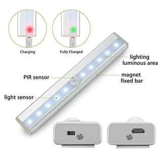 Motion sensor led night light strip light magnet rechargable