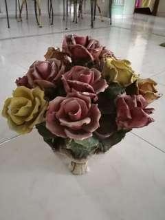 Ceramic Italian Rocco Flowers