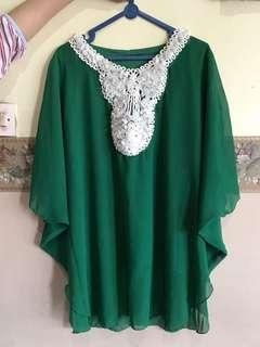 Green Blouse/Green Kaftan