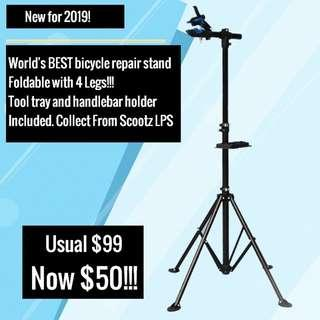 *Sold out* Estimated Restock date 15th April 2019. Bike Repair Work Stand with Tool Tray & Handle Holder For Bicycle Mechanic Portable Bicycle Repair stand with quick Release