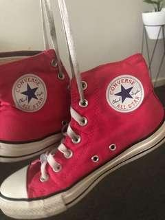 Pink Converse chuck Taylor's all star