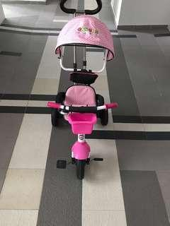 Foldable 3 Wheels Toddler Kids Kick Scooter T-Bar Handle + Tricycle Pram 3 Wheel Baby Stroller Child Carriage Baby Buggy Bike Bicycle