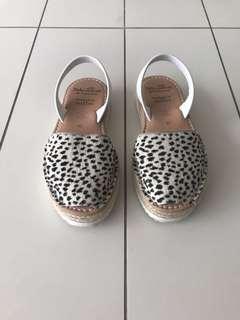 Palmaira Sandal Animal Spot Espadrille Size 39