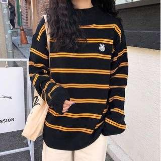 🚚 ✨(mcs) tiger logo stripes pullover