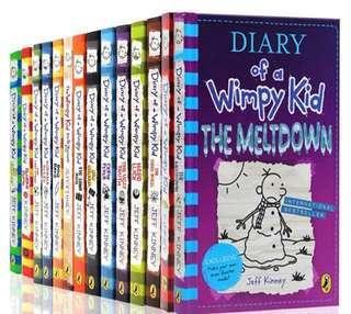 (Ready Stok) Diary Of A Wimpy Kid —14books