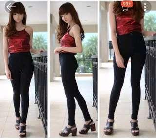Celana jeans Highwaist Hitam / Black