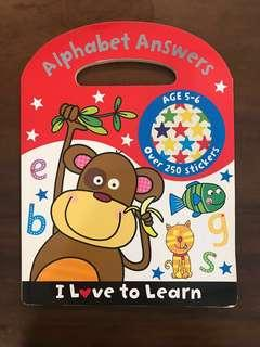 🚚 Alphabet writing book