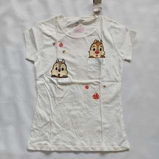 Kaos Putih Chipmunk Kantong Fit to S-M