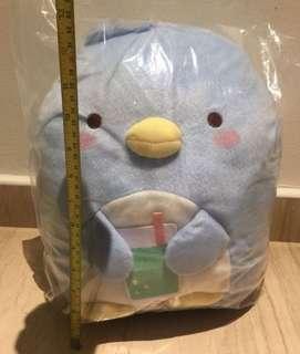 NWT XL Sumikko Gurashi Blue Penguin, tokage, real tokage plush soft toy cute! Selling at loss