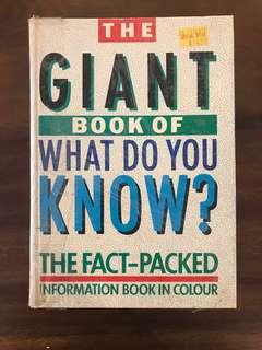 🚚 Children's information book - giant book of what do you know