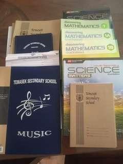 🚚 New text books Temasek secondary. Never used before.