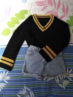 Black Korean Stylish Sweater