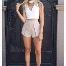 White fox Boutique Khaki Shorts