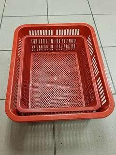 Very good clean condition Plastic baskets for hamper baskets, kitchen, cafe, food delivery use. 2 pcs for $4.90 only