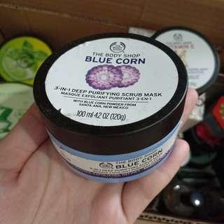 FREE ONGKIR JABODETABEK TBS BLUE CORN FACE SCRUB MASK ORIGINAL THE BODY SHOP