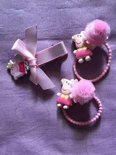 🚚 🆕👶🏻👧🏻 Peppa Pig Hair Accessories.