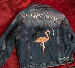 Flamingo denim jacket