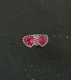 新款心形925銀耳環