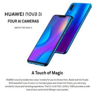 Brand new sealed huawei nova 3i handphone smartphone not samsung iphone