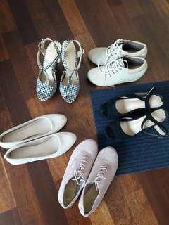 Multiple Preloved Shoes to Let Go