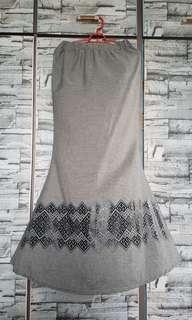 Grey mermaid skirt