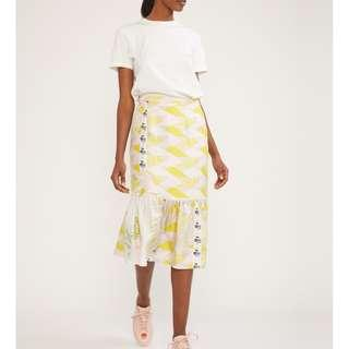 Talia Printed Silk Ruffle Skirt (Cynthia Rowley) NWT