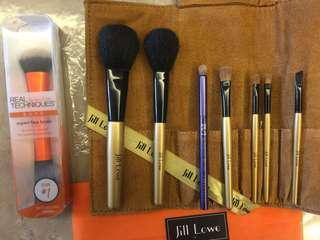 🚚 New Jill Lowe Makeup powder eye brushes set with pouch organiser