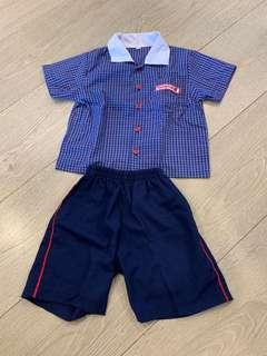 🚚 Hampton pre school clothes - TOP n bottom size xs - 3 sets