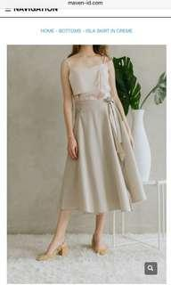 Isla skirt in creme by Maven