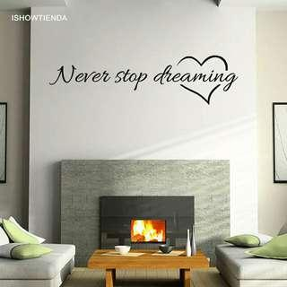 🚚 1PC 57cm*15cm Quote Removable Home Room Decor Wall Stickers