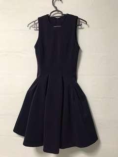 🚚 Cute dark purple dress suitable for dinner or office work